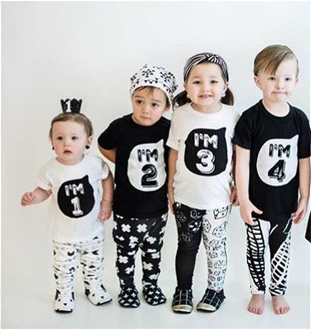 1 2 3 4 5 Anni Di Compleanno Di Natale Del Ragazzo T Shirt Di Cotone T-shirt Per Bambini Vestiti Del Bambino Tee Vestiti Costume Per I Bambini Top Rapida Dissipazione Del Calore