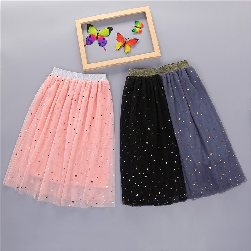 Юбка для маленьких девочек, длинная детская одежда, детская сетчатая юбка розового, черного, серого цвета для маленьких девочек, одежда на л...