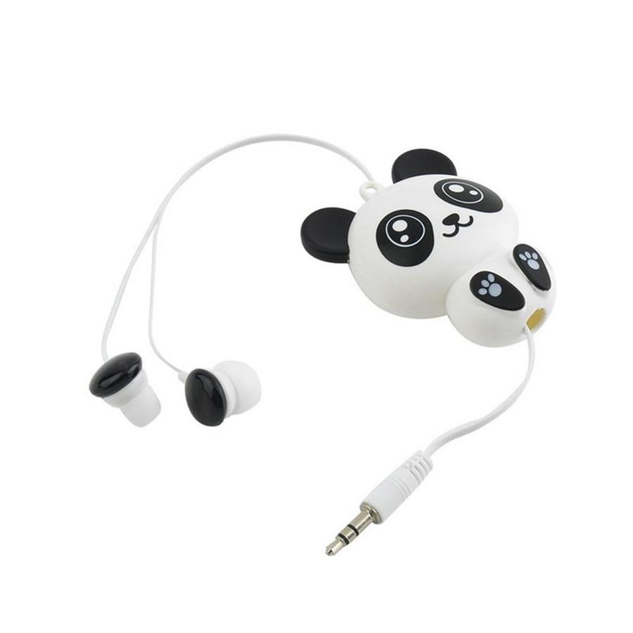 Cute Kawaii Cat Bear Panda Cartoon Retractable Earphone For Samsung Fleksible Ipad 3