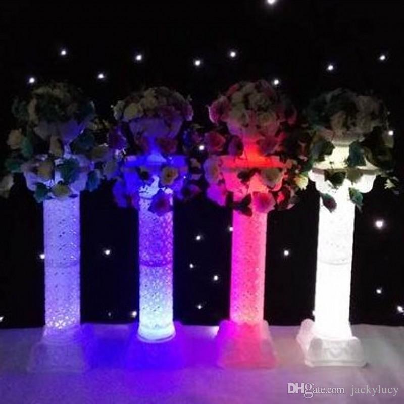 Europese stijl 98 cm hoogte wit luxe Plastic holle Romeinse kolom - Feestversiering en feestartikelen - Foto 5