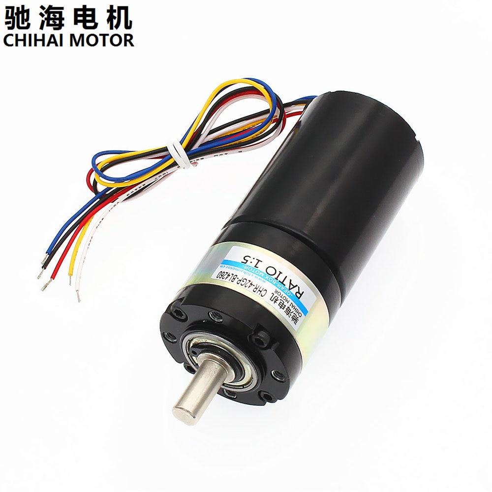 Chihai Motor CHR-42GP-BL4260 Brushless DC Planetary Gear Motor 12V800rpm 24V1600rpm with Built-In Drive chihai motor chr k370wd 5523g 41d gear motor for water bullets gun jin ming wave box motor 8 4v 11 1v