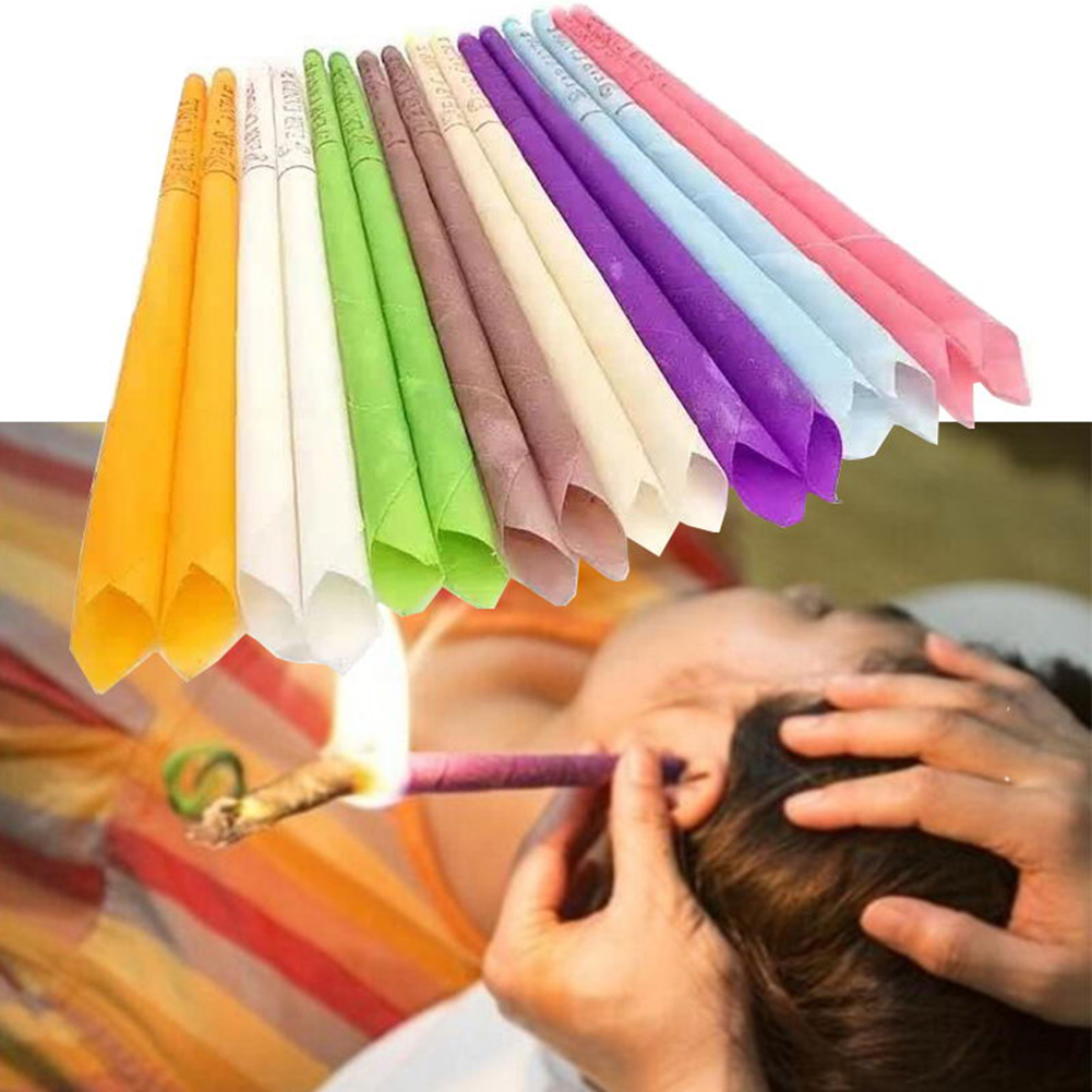 6 Pcs/3 Pairs Ear Candle Wax Hollow Blend Cone Shape Ear Care Healthy Relaxing Beeswax Cleaning Natural Aromatherapy Candles