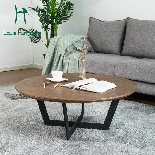 Louis Fashion Coffee Table Modern Minimalist Metal Small Apartment Designer Furniture Originality Individuality Function Iron