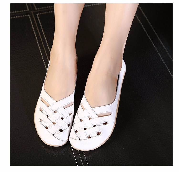 Hot Sale 2016 Spring New PU Leather Woman Flats Moccasins Comfortable Woman Shoes Cut-outs Leisure Flat Woman Casual Shoes ST181 (7)