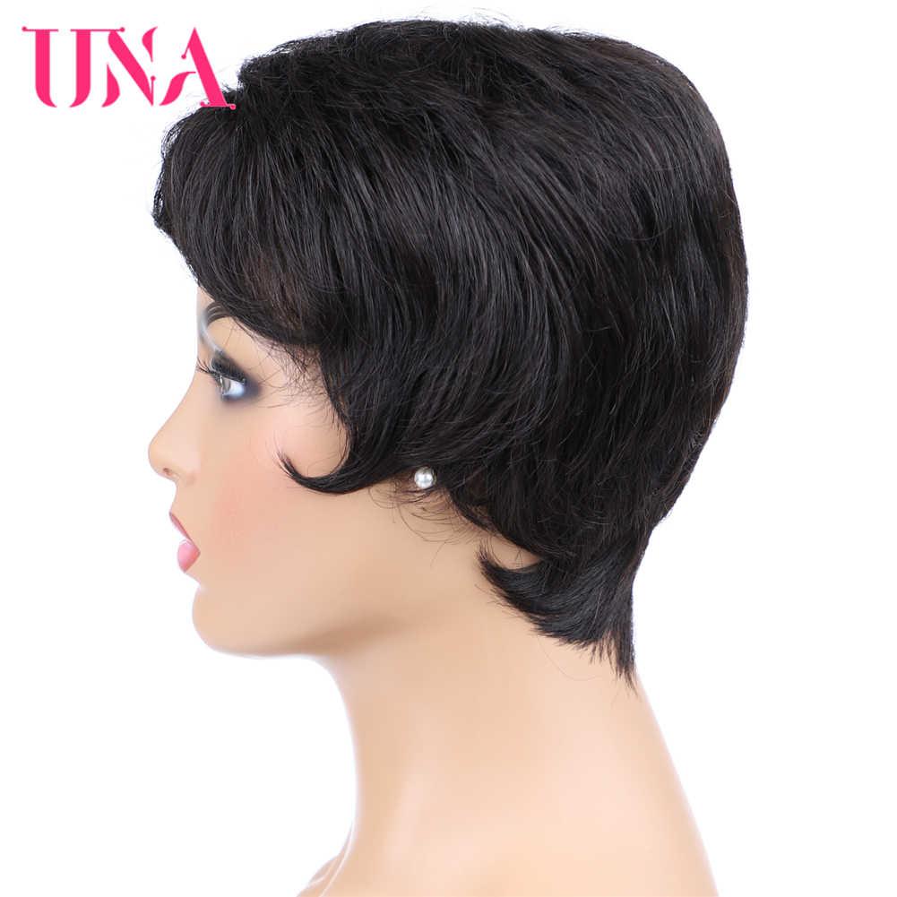 Малазийские прямые не Реми человеческие волосы парики машинные парики 6 дюймов цвет #1 # 1B #2 #4 #27 #30 #33 #350 # ошибка # 99J #2/33