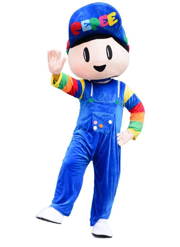 Professional New Style PEPEE boy Mascot Costume blue boy mascot costume Fancy Dress outfit for Halloween Purim party