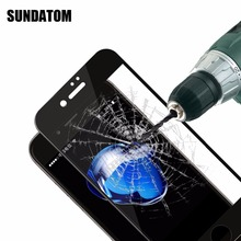 Tempered Glass Screen Protector For iPhone 7 / 7 Plus Ultra Slim Titanium Alloy 3D Full Cover Curved Surface