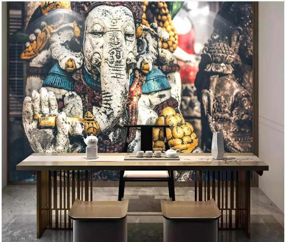 detail feedback questions about custom mural 3d photo wallpaperdetail feedback questions about custom mural 3d photo wallpaper southeast asian indian elephant god religious temple statue living room wallpaper for walls