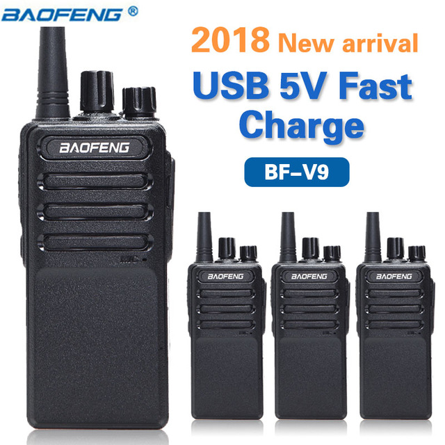 4PCS Baofeng BF V9 USB Fast Charger Walkie Talkie Upgrade Version of BF 888S UHF 400