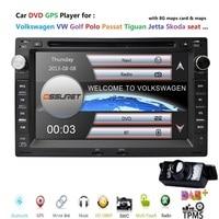 In Stock 2 Din Car DVD Player for Golf4 GPS T4 Passat B5 Sharan 3G Bluetooth Radio SD USB Steering Wheel Control Camera gift