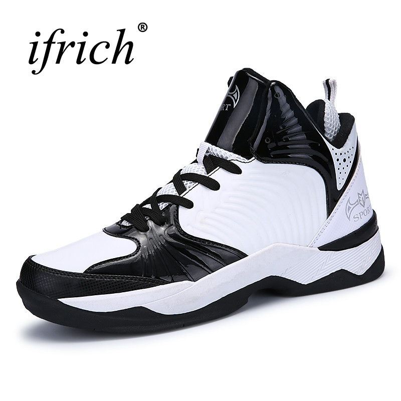 Ifrich Mens Sneakers Basketball Anti-Slip Mens Sport Basketball Blue/Red Sport Shoes Men Basketball Cheap Shoes Training Men