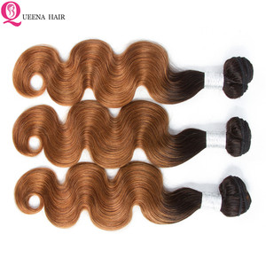 Image 3 - สีOmbre Human Hair Bundlesกับปิดหน้าผากบราซิลBody WaveHairรวมกลุ่มกับการปิดหน้าผาก4ชุดที่มีด้านหน้า