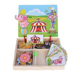 Image 2 - Houten Magnetische Puzzels Speelgoed Kids Educatief Pretend Play Leren Houten Speelgoed Houten Puzzels Voor Kinderen Houten Puzzels Game Gift