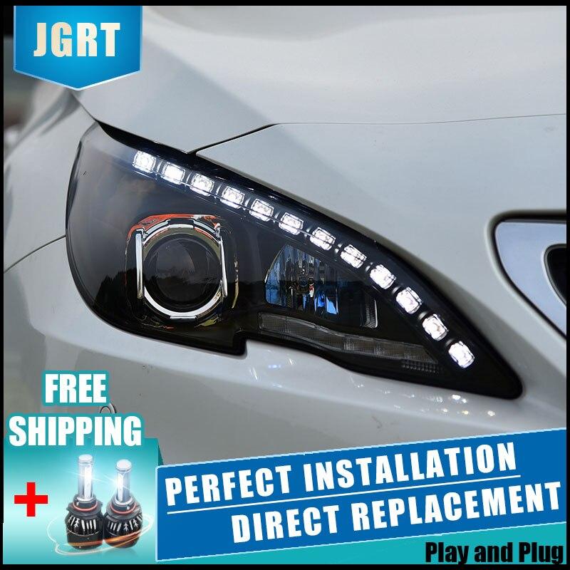 2 pièces LED Phares Pour Peugeot 408 308 S 14-18 Voiture LED Lumières Double Xénon Lentille Voiture Accessoires Feux Antibrouillard