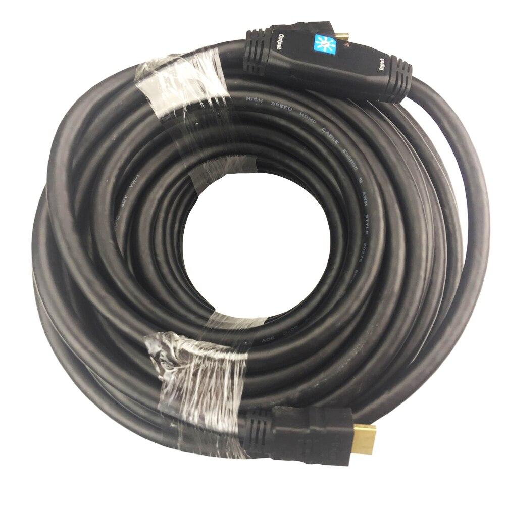 Câble HDMI actif 30 M 20 M 15 M 10 M avec booster (24AWG + brumisation + tressage AL + puce RedMere)