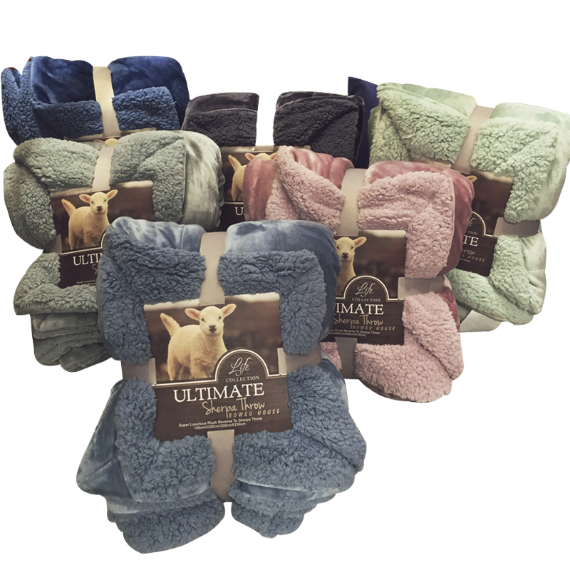Papa&Mima Solid Soft Winter Blankets 100% Polyester Fiber Throw Blankets Plaids 150x200cm/200x230cm Double Face Bedsheets Linens