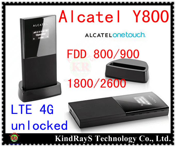 Unlock 100Mbps Alcatel one touch Y800 4G LTE Router FDD Wireless 3G 4G dongle WiFi Hotspot moblie dongle pk y855 y854 y853 w800 wholesale original unlock lte fdd 150mbps alcatel one touch y855 4g mifi router support lte fdd 800 900 2100 1800 2600mhz