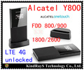 Unlock 100Mbps Alcatel one touch Y800 4G LTE Router FDD Wireless 3G 4G dongle WiFi Hotspot moblie dongle pk y855 y854 y853 w800