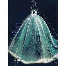 Свадебное платье, одежда, Новое поступление, сделай сам, кристалл, полная дрель, квадратная 5D алмазная живопись, 3D Набор для вышивки крестиком, мозаика, круглые стразы