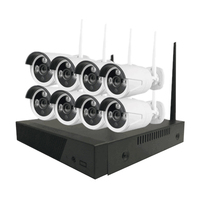 CWH 8CH 1MP NVR WIFI CCTV System P2P Phone Monitor 720P H 264 Home Security Wireless