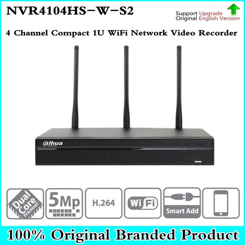 DH DHI NVR4104HS W S2 Беспроводной NVR рекордер wifi для Беспроводной безопасности IP Камера WI FI CCTV Системы 2,4 ГГц 5 ГГц dual bands