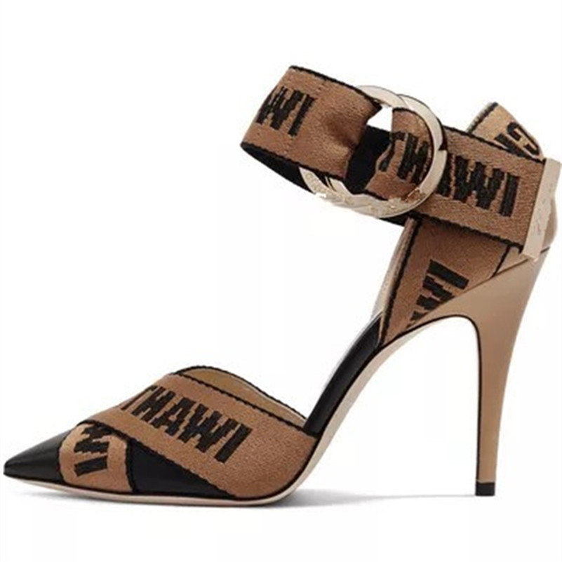COVIBESCO 2019 Summer Thin Heels Fashion Pointed Toe Buckle Women Sandals Sexy Elegant Genuine Leather Party Prom Shoes Woman-in High Heels from Shoes    2