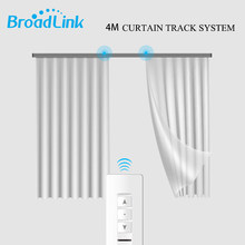 Broadlink CM WiFi Curtain Motor +4M Customizable Aluminum Electric Window Curtain Track Rod Rail IOS Android Phone Remote(China)