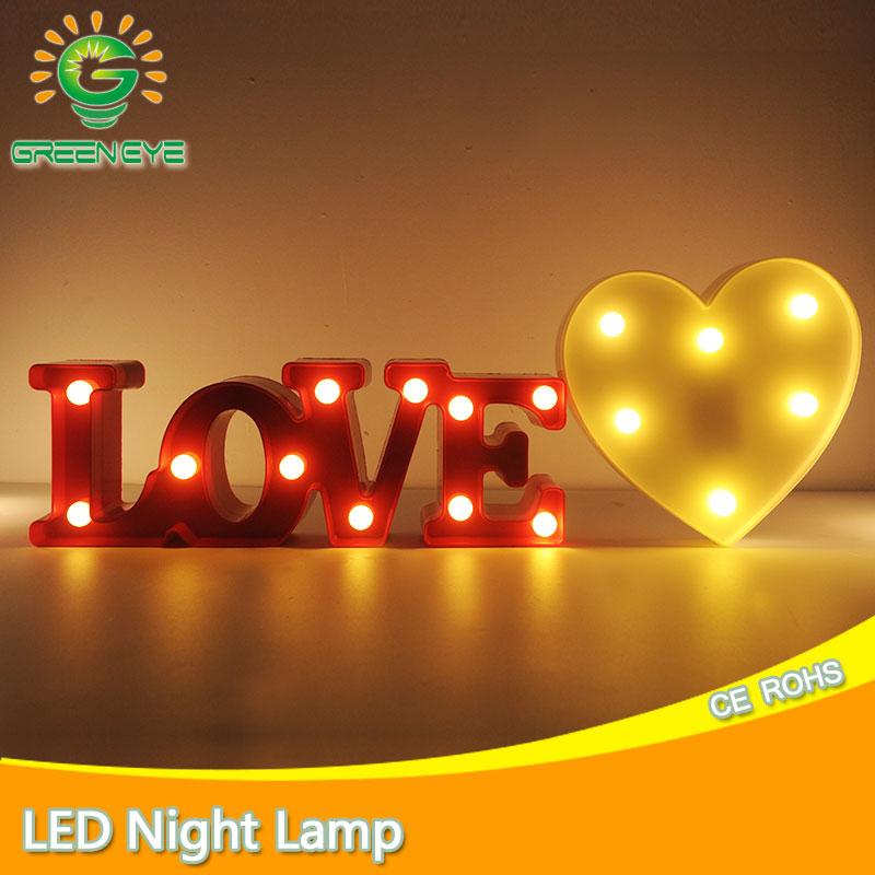 Hindistan cevizi Kalp Lamba işık Yenilik Luminaria 3D LED Gece - Gece Lambası