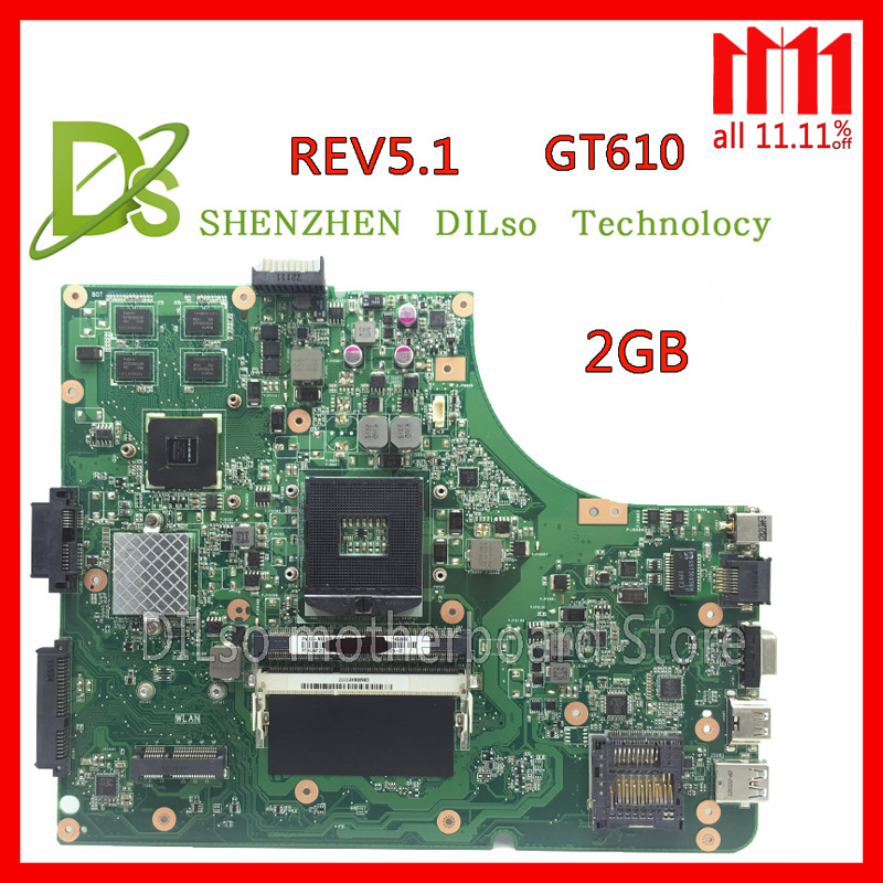 KEFU K53SD HOT!!!For Asus K53SD motherboard REV 5.1 laptop motherboard with Graphics card GT610M 2GB Test work 100% цена