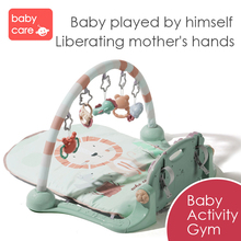 цена на Infant Play Mat Baby Fitness Frame Foot Piano Kid Crawling Music Play Game Developing Pad Neonatal Babies Intellectual Music Toy