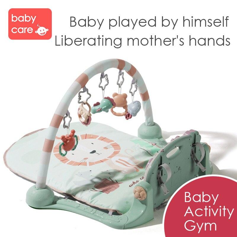 Tapis de jeu pour bébé cadre de Fitness pour bébé Piano à pied enfant ramper musique jouer jeu développement Pad bébé néonatal jouet de musique intellectuelle