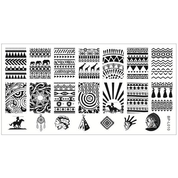Aliexpress.com : Buy BORN PRETTY Nail Stamping Plates Aztec Pattern ...