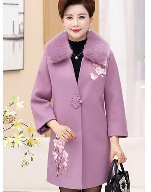 de grande rouge g es rose style mode manteau taille laine. Black Bedroom Furniture Sets. Home Design Ideas