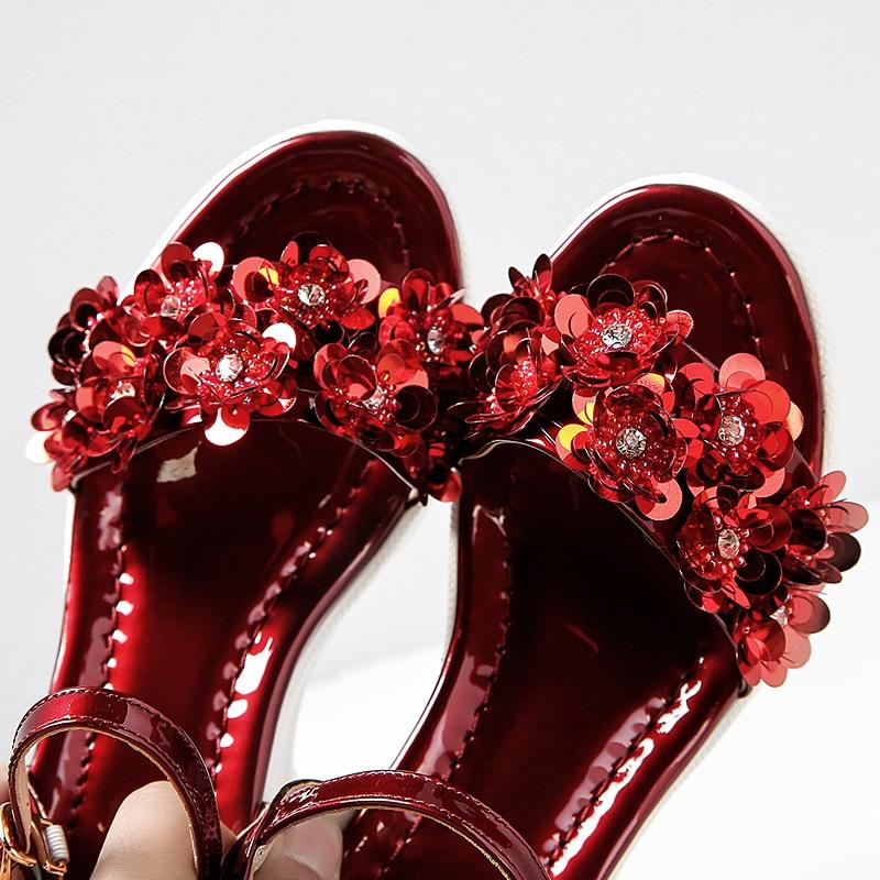 Di Gonne Delle Spessore E Vera Donne Rosso Scarpe 42 Fiore Estate Pantaloni 33 argento Sandali Formato Zeppe Del Alta Sandalo Pelle PqwYqrvz