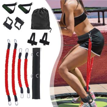 Sports Fitness Resistance Bands Stretching Strap Set for Leg Arm Exercises Boxing Muay Thai Gym Bouncing Training Equipment 2