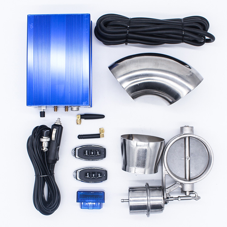 Exhaust Cutout Valve 3.0 Variable Vacuum Exhaust Valve Kit Control By Pedal Vacuum Pump Cutout Pipe Valve Automobile Accessory