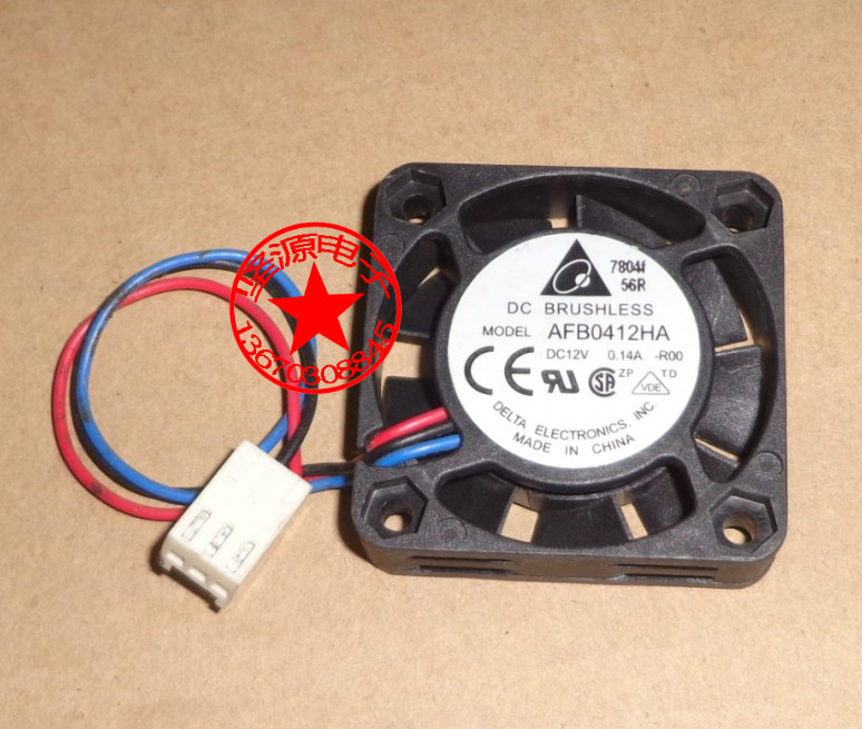 Free Shipping Delta AFB0412HA 4cm <font><b>40mm</b></font> 4010 DC 12V 0.14A mini micro silent <font><b>quiet</b></font> computer server case cooler axial cooling <font><b>fans</b></font> image
