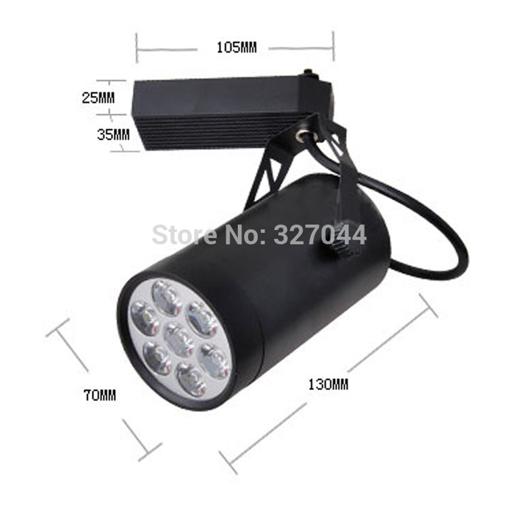 Lights & Lighting Shop For Cheap 10pcs 6500k 4300k 85v-ac265v Blue 7x3w 21w Led Track Lighting White Black Shell Rail Light For Clothes Shop Complete In Specifications