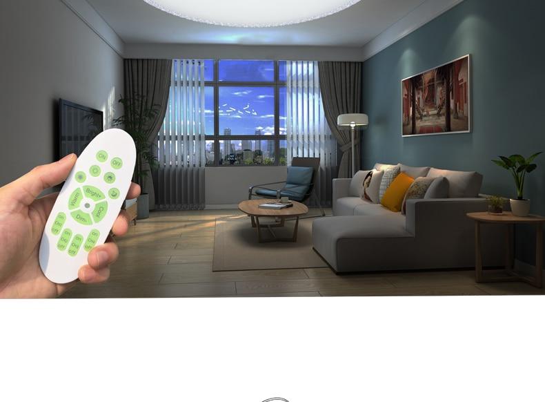 neue moderne led deckenleuchte 2 4g rf fernbedienung dimmbare deckenleuchten f r wohnzimmer. Black Bedroom Furniture Sets. Home Design Ideas