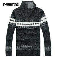 MISNIKI High Quality Wool Cardigan Men Autumn Winter Kinitted Sweater Men Pullovers