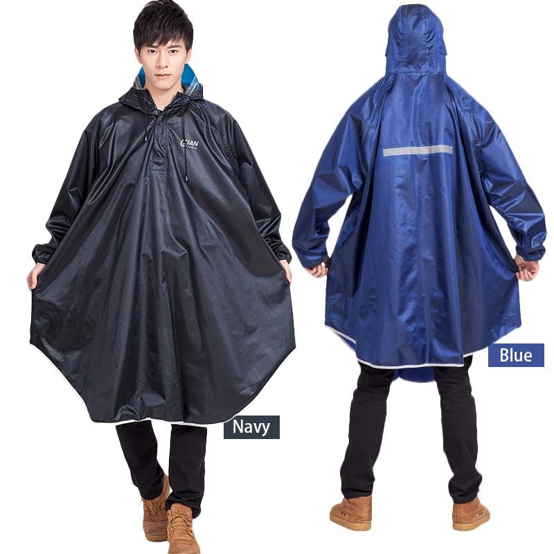 Adult Hooded Raincoat Bike Rain Poncho Bicycle Rainwear Waterproof Rain Coat
