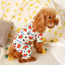 Printed Dog Pet Clothes Spring Dog Pajamas  Teddy Bichon Small Dog Jumpsuit Clothing for Dog XS S M L XL