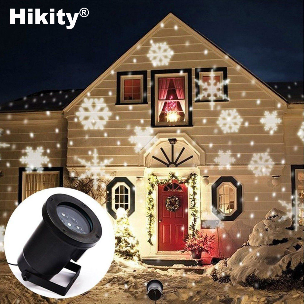 Hikity Christmas Garden Decoration Auto Moving Snowflake Indoor ...