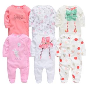 Image 2 - Kavkas Baby Rompers 6 Pcs/lot Long Sleeve Summer Baby Clothes Cotton Cartoon Printed Newborn 0 12 months Baibes Jumpsuit