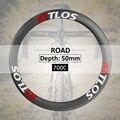 Углеродные велосипедные колеса 50 мм Глубина специальное торможение V Тормозной трубчатый 700c дорожный велосипед колеса BTLOS RT-50