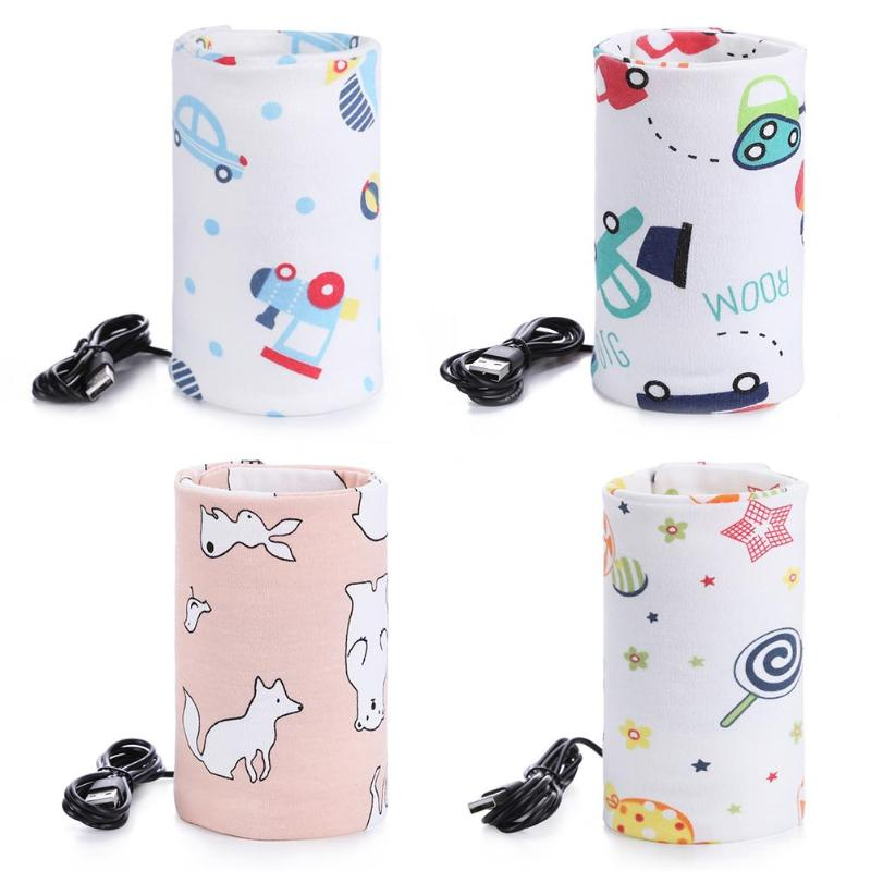 USB Milk Water Warmer Insulated Bag Baby Nursing Baby Bottle Warmer Portable Milk Cup Heater Infants Feeding Bottle Bag