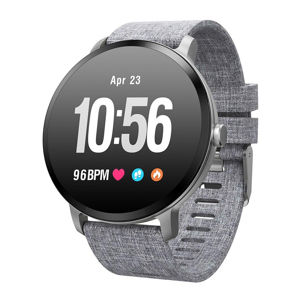 V11 Men women smartwatch IP67 waterproof Tempered glass Activity Fitness tracker Heart rate monitor BRIM