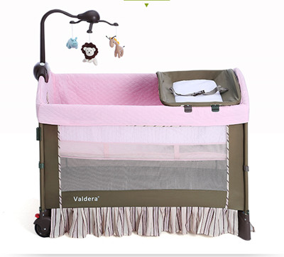 High quality export baby bed folding portable travel bed 3 colors in stock  Hong Kong free delivery цена и фото