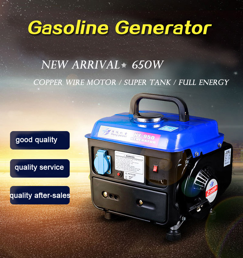 Household Gasoline Generator 650W 220V 50Hz Single-phase Generator Set Mute Small Generator
