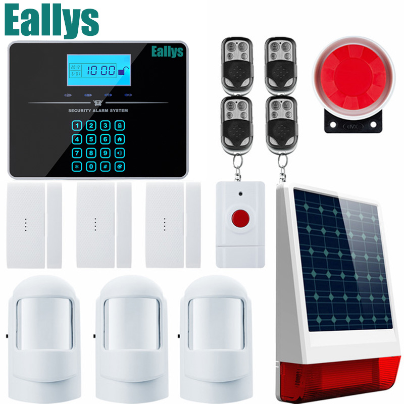 Touch Keypad Android IOS APP 433Mhz Sensor GSM Call LCD Smart Display Home Burglar Security Alarm android ios app 433mhz sensor dual network gsm pstn sim call lcd smart dislay touch keypad home burglar security alarm